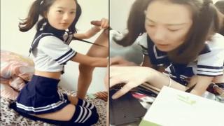 [JAV101限定!]公認天菜正妹大學生再一彈 水手服雙馬尾不知各位喜歡嗎