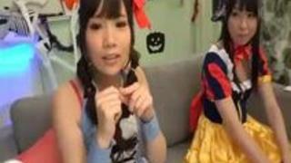【素人、コスプレ】ハロウィンで渋谷にいた少女好きっ娘たちが酔った勢いで初めてのレズビアンに挑戦!!〔企画〕