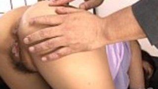 熱い肛門の後のウェットasian blowの仕事