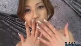 豪華な日本のティーン手コキや足コキ