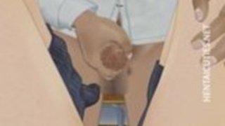 コックを手コキアニメ女子高生