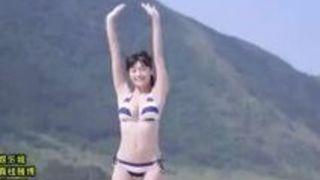 グラドル時代の水着を着た高橋しょう子と青姦セックスしちゃうエロ動画