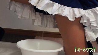 コスプレ聖水祭vol.2 隣の部屋が撮影中でトイレに行けず…case2 touhou sakuya