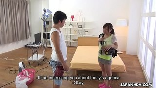 Japanese babe, Mei Wakana is eagerly eating loads cum, uncensored