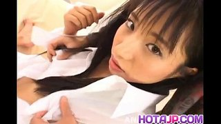 Momo Junna gets fingers tongue and phallus in hairy love box